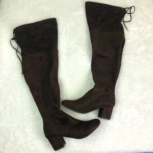 Lane Bryant brown suede over the knee boots, 8W